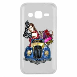 Чехол для Samsung J2 2015 Girl with a retro car