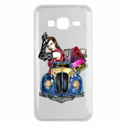 Чехол для Samsung J3 2016 Girl with a retro car