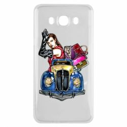 Чехол для Samsung J7 2016 Girl with a retro car