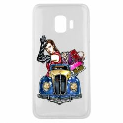 Чехол для Samsung J2 Core Girl with a retro car