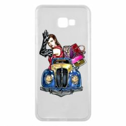 Чехол для Samsung J4 Plus 2018 Girl with a retro car
