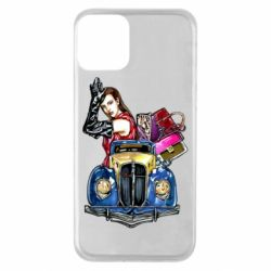 Чехол для iPhone 11 Girl with a retro car