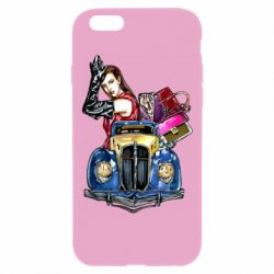 Чехол для iPhone 6 Plus/6S Plus Girl with a retro car