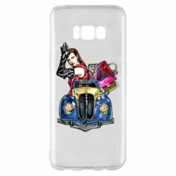 Чехол для Samsung S8+ Girl with a retro car