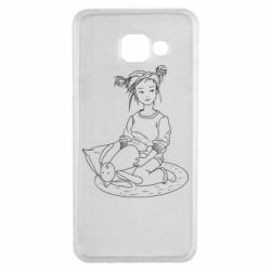 Чехол для Samsung A3 2016 Girl with a toy bunny