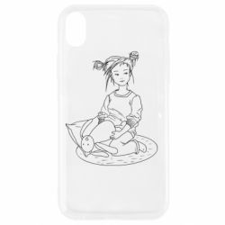 Чехол для iPhone XR Girl with a toy bunny