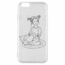 Чехол для iPhone 6/6S Girl with a toy bunny