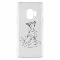 Чехол для Samsung S9 Girl with a toy bunny