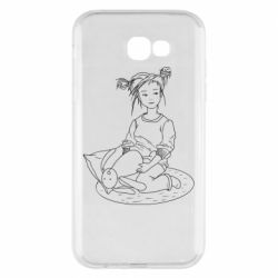 Чехол для Samsung A7 2017 Girl with a toy bunny