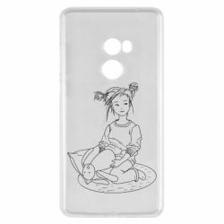 Чехол для Xiaomi Mi Mix 2 Girl with a toy bunny