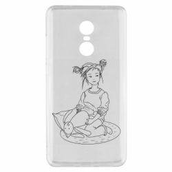 Чехол для Xiaomi Redmi Note 4x Girl with a toy bunny