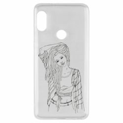 Чехол для Xiaomi Redmi Note 5 Girl with dreadlocks