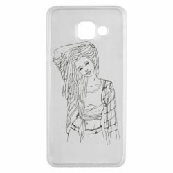 Чехол для Samsung A3 2016 Girl with dreadlocks