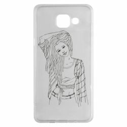 Чехол для Samsung A5 2016 Girl with dreadlocks
