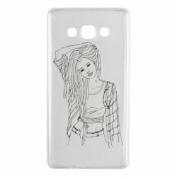 Чехол для Samsung A7 2015 Girl with dreadlocks