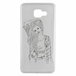 Чехол для Samsung A7 2016 Girl with dreadlocks