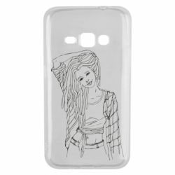 Чехол для Samsung J1 2016 Girl with dreadlocks