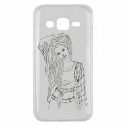 Чехол для Samsung J2 2015 Girl with dreadlocks