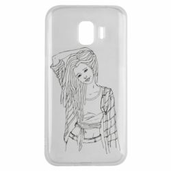 Чехол для Samsung J2 2018 Girl with dreadlocks