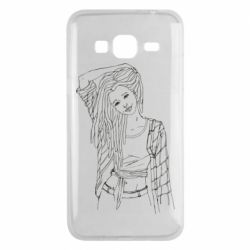 Чехол для Samsung J3 2016 Girl with dreadlocks
