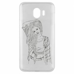 Чехол для Samsung J4 Girl with dreadlocks