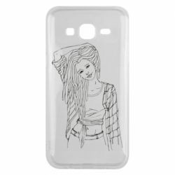 Чехол для Samsung J5 2015 Girl with dreadlocks