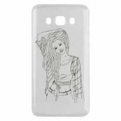 Чехол для Samsung J5 2016 Girl with dreadlocks