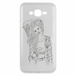 Чехол для Samsung J7 2015 Girl with dreadlocks