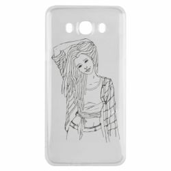 Чехол для Samsung J7 2016 Girl with dreadlocks