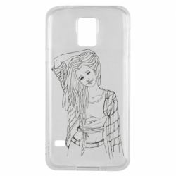 Чехол для Samsung S5 Girl with dreadlocks