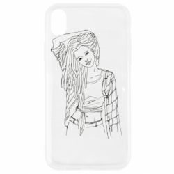 Чехол для iPhone XR Girl with dreadlocks