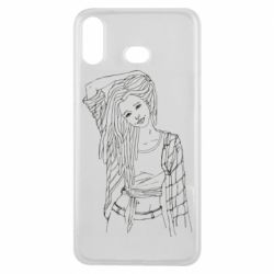 Чехол для Samsung A6s Girl with dreadlocks