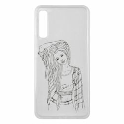 Чехол для Samsung A7 2018 Girl with dreadlocks