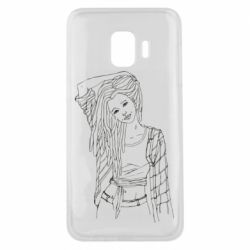 Чехол для Samsung J2 Core Girl with dreadlocks