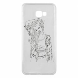 Чехол для Samsung J4 Plus 2018 Girl with dreadlocks