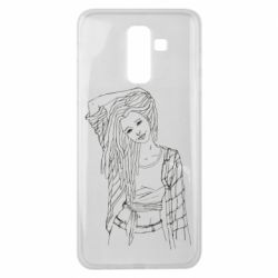 Чехол для Samsung J8 2018 Girl with dreadlocks