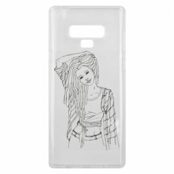 Чехол для Samsung Note 9 Girl with dreadlocks