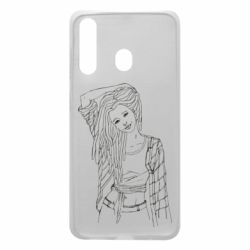 Чехол для Samsung A60 Girl with dreadlocks