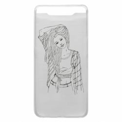 Чехол для Samsung A80 Girl with dreadlocks