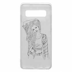 Чехол для Samsung S10 Girl with dreadlocks