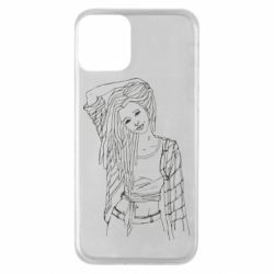 Чехол для iPhone 11 Girl with dreadlocks