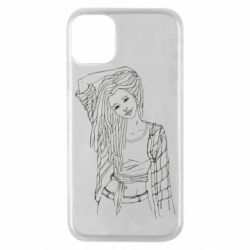 Чехол для iPhone 11 Pro Girl with dreadlocks