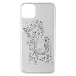Чехол для iPhone 11 Pro Max Girl with dreadlocks