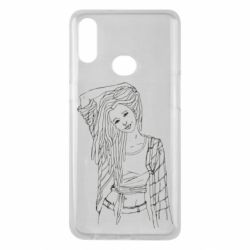 Чехол для Samsung A10s Girl with dreadlocks