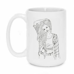 Кружка 420ml Girl with dreadlocks