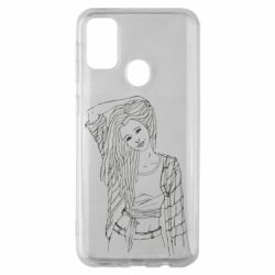 Чехол для Samsung M30s Girl with dreadlocks
