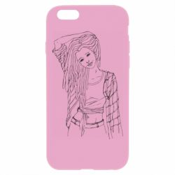 Чехол для iPhone 6 Plus/6S Plus Girl with dreadlocks