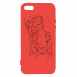 Чехол для iPhone5/5S/SE Girl with dreadlocks