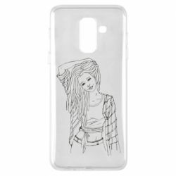 Чехол для Samsung A6+ 2018 Girl with dreadlocks