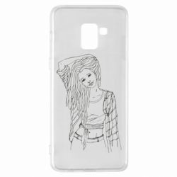 Чехол для Samsung A8+ 2018 Girl with dreadlocks